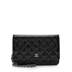 Chanel Patent Leather Classic Wallet on Chain Bag
