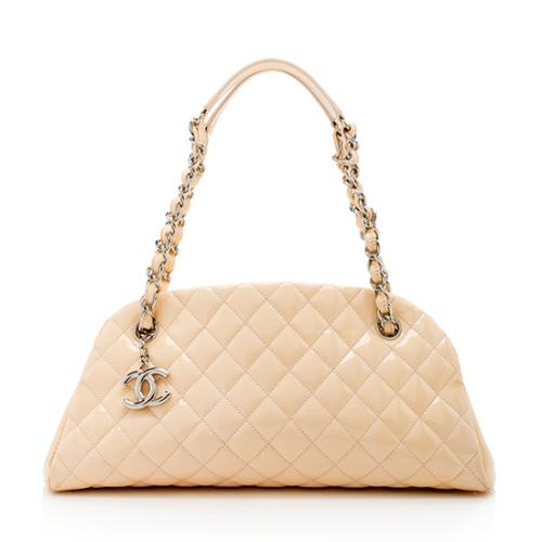 Chanel Patent Leather Just Mademoiselle Bowler Bag