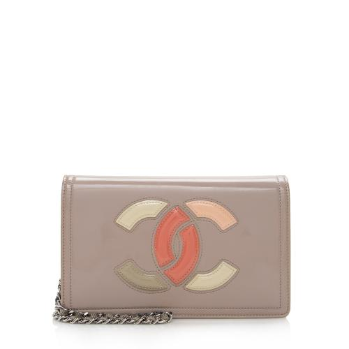 Chanel Patent Leather Lipstick Wallet on Chain Bag