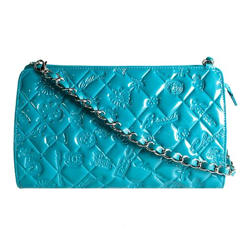 Chanel Patent Leather Lucky Symbols Clutch