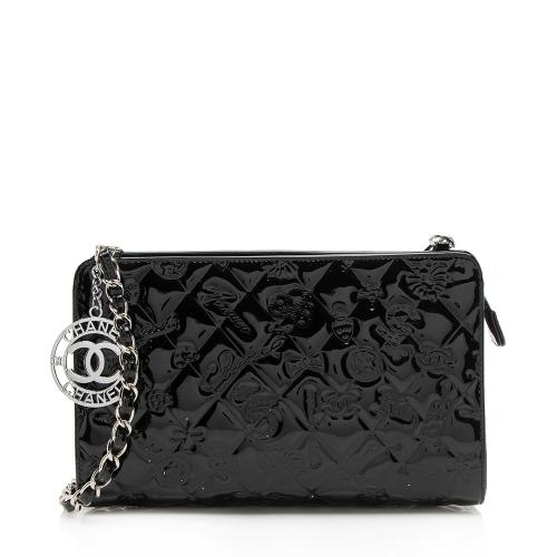 Chanel Patent Leather Lucky Symbols Pochette