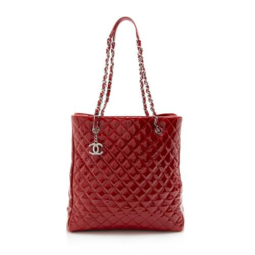Chanel Patent Leather North South Tote
