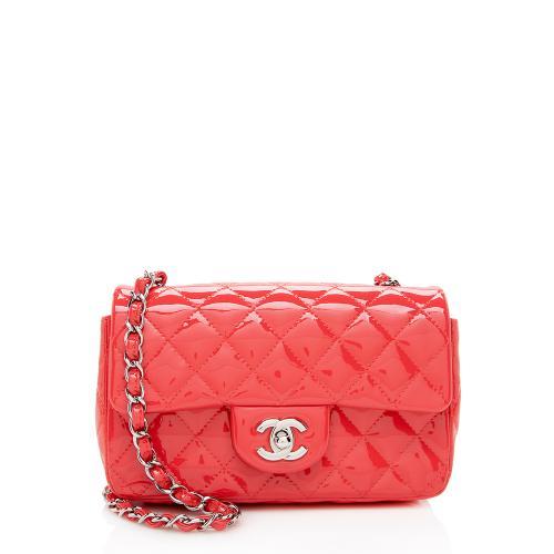 Chanel Patent Leather Rectangular Mini Flap Bag