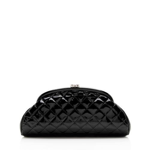 Chanel Patent Leather Timeless Clutch
