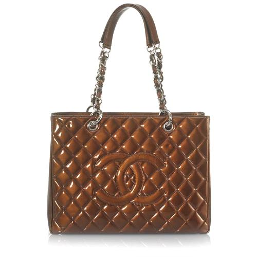Chanel Patent Leather Veau Ver Large Tote