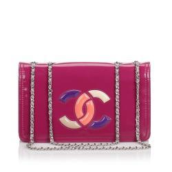 Chanel Patent Leather  Lipstick Flap Bag