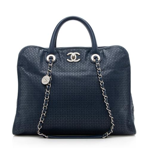 Chanel Perforated Calfskin Up In The Air Large Tote ad00b4e1ecd28