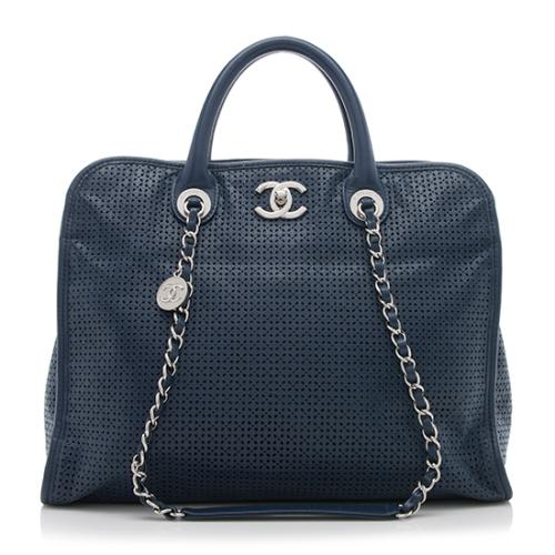 Chanel Perforated Calfskin Up In The Air Large Tote