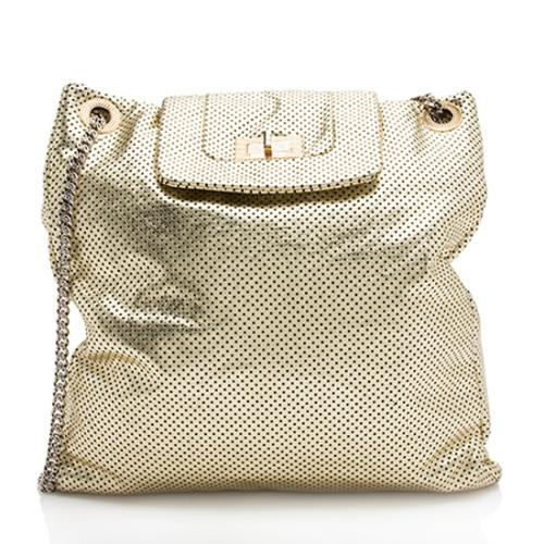 Chanel Perforated Leather Large Drill Tote