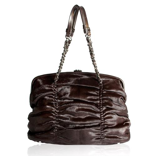 Chanel Pony Hair Sharpei Frame Shoulder Handbag