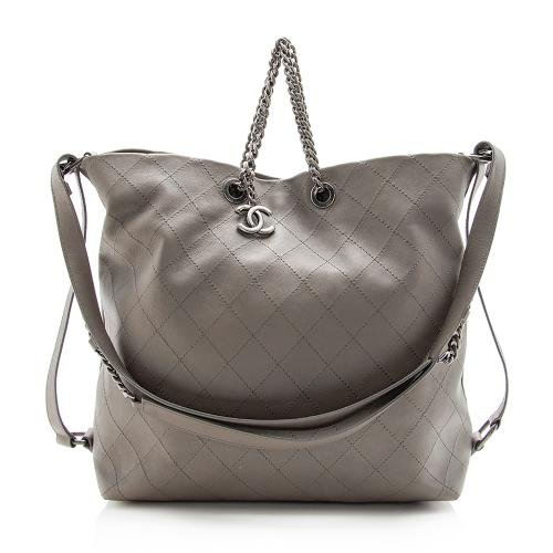 Chanel Quilted Calfskin CC Hobo