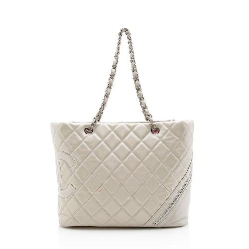 Chanel Quilted Calfskin Cotton Club Tote