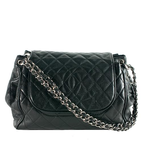 4a46d9de8ed9 Chanel-Quilted-Caviar-Leather-Accordion-Flap-Shoulder -Handbag 51155 front large 1.jpg