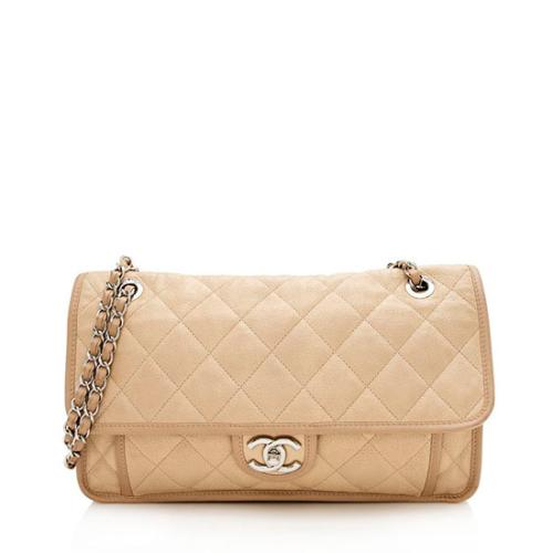 Chanel Caviar Leather French Riviera Medium Flap Bag