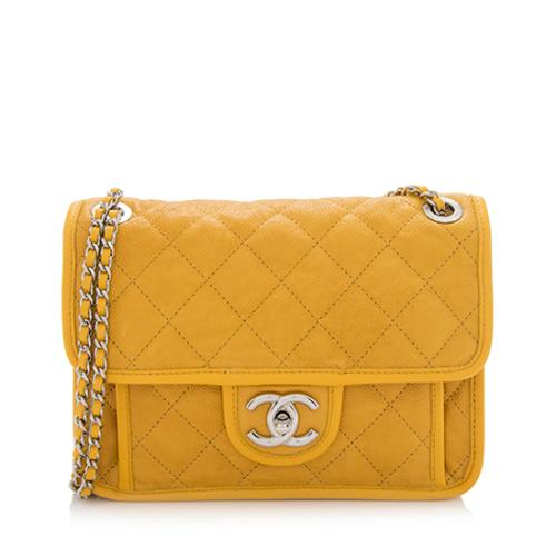 Chanel Quilted Caviar Leather French Riviera Mini Flap Bag