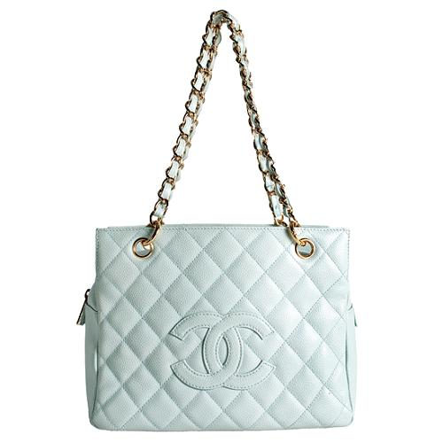 Chanel Quilted Caviar Leather Petite Timeless Tote