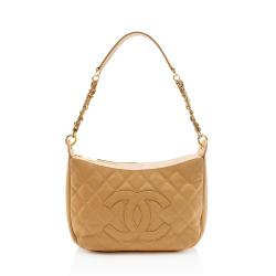 Chanel Quilted Caviar Leather Timeless Shoulder Bag