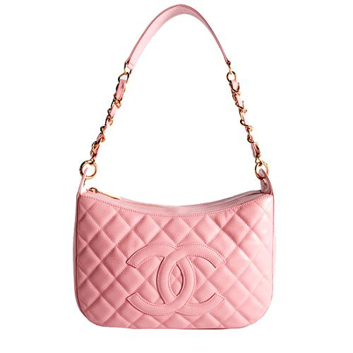 Chanel Quilted Caviar Sac Divers Shoulder Handbag