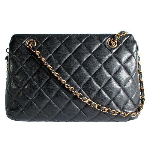 Chanel Quilted Caviar Shoulder Handbag