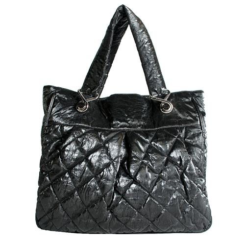Chanel Quilted Crinkled Nylon Le Marais Ligne Large Tote
