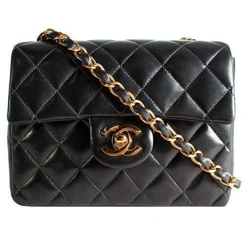 Chanel Quilted Flap Lambskin Shoulder Handbag