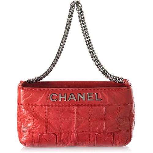 Chanel Quilted LAX Shoulder Handbag