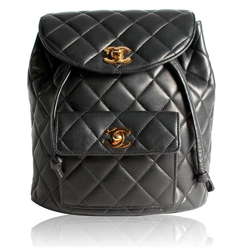 Chanel Quilted Lambskin Backpack