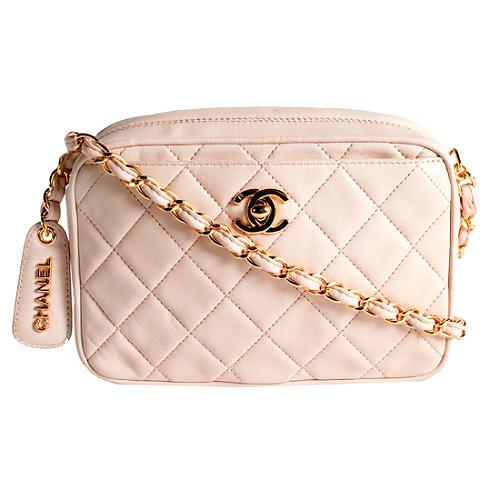 Chanel Quilted Lambskin Camera Shoulder Handbag