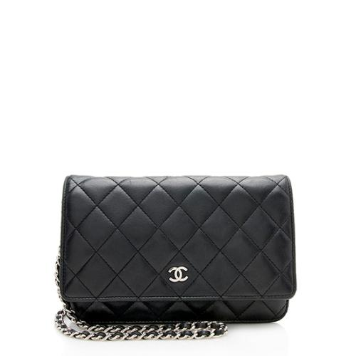 Chanel Quilted Lambskin Classic Wallet on Chain Bag