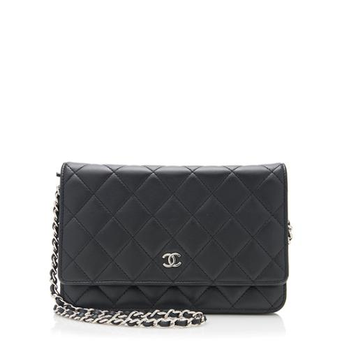 24efc718d757 Chanel Quilted Lambskin Classic Wallet on Chain Bag