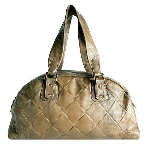Chanel Quilted Lambskin Cloudy Bundle Satchel Handbag