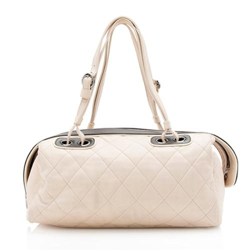 Chanel Quilted Lambskin Country Club Bowler Satchel
