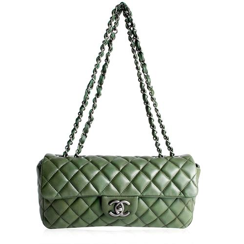 Chanel Quilted Lambskin E/W Shoulder Handbag