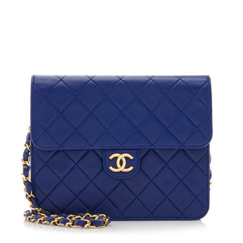 Chanel Vintage Quilted Lambskin Flap Shoulder Bag