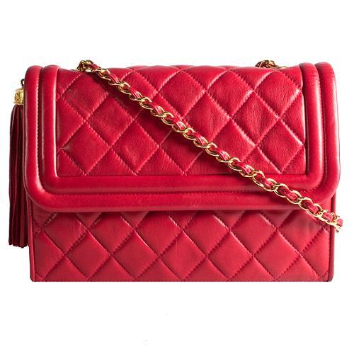 Chanel Quilted Lambskin Flap Shoulder Handbag