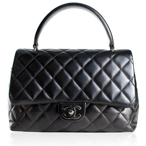 Chanel Quilted Lambskin Kelly Satchel Handbag