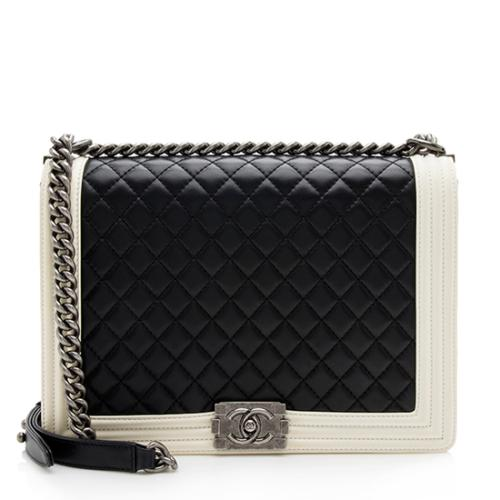 Chanel Quilted Lambskin Large Boy Bag