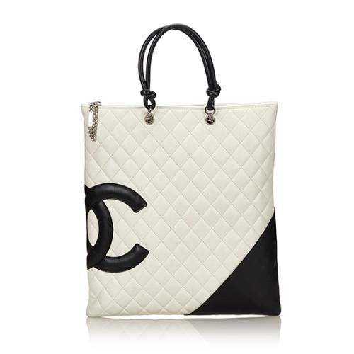 Chanel Quilted Lambskin Ligne Cambon Flat Tote