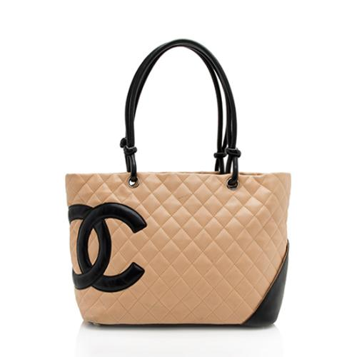 Chanel Quilted Lambskin Ligne Cambon Large Shopping Tote - FINAL SALE