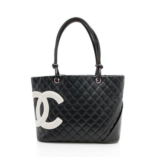 91b018c4e03a36 Chanel Quilted Lambskin Ligne Cambon Large Shopping Tote - FINAL SALE