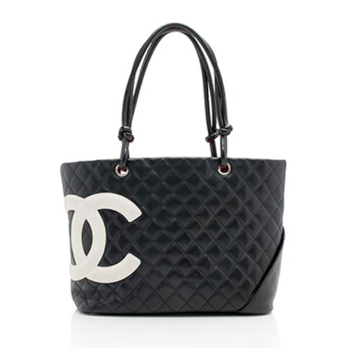 Chanel Quilted Lambskin Ligne Cambon Large Shopping Tote