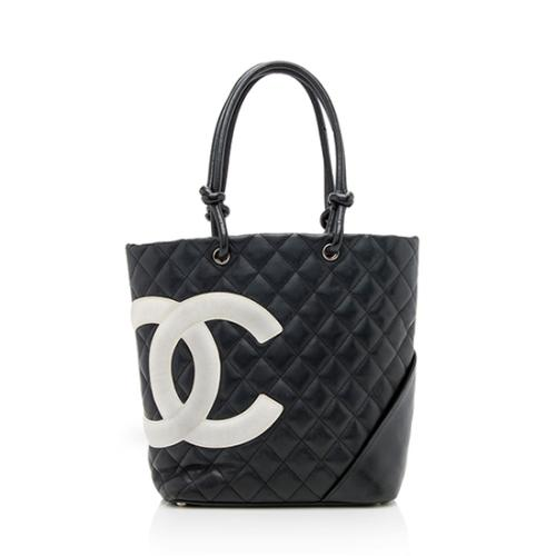 Chanel Quilted Lambskin Ligne Cambon Medium Tote - FINAL SALE