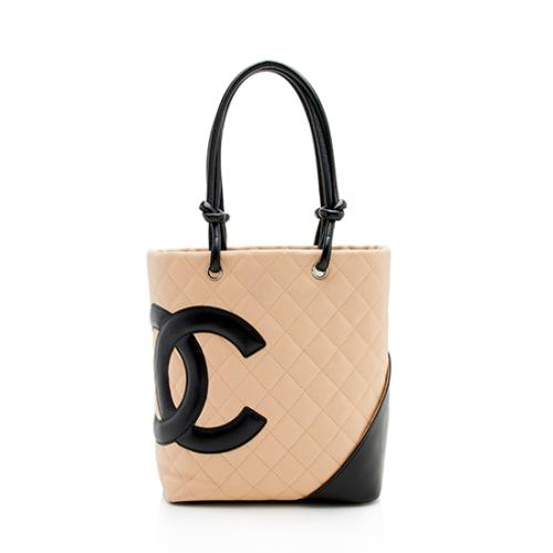 Chanel Quilted Lambskin Ligne Cambon Medium Tote