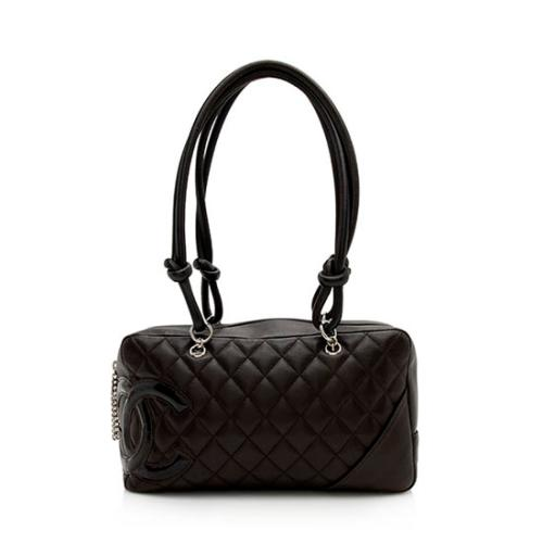 Chanel Quilted Lambskin Ligne Cambon Shopper Shoulder Bag