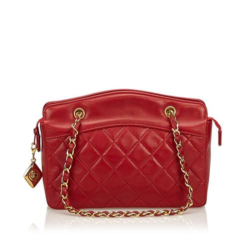 Chanel Vintage Quilted Lambskin Shoulder Bag