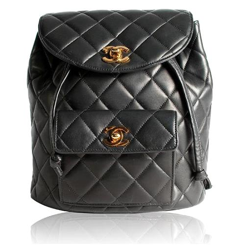 Chanel Quilted Lambskin Small Backpack