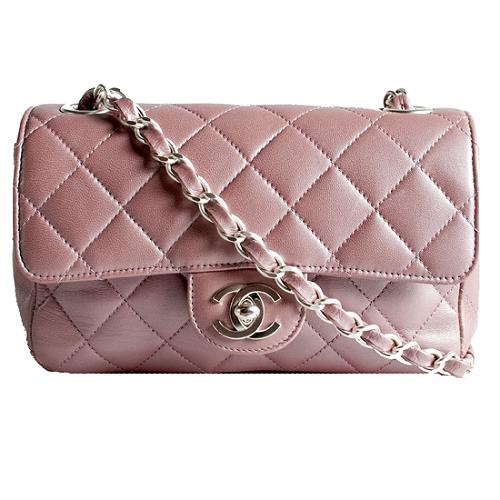 Chanel Quilted Lambskin Small Flap Shoulder Handbag