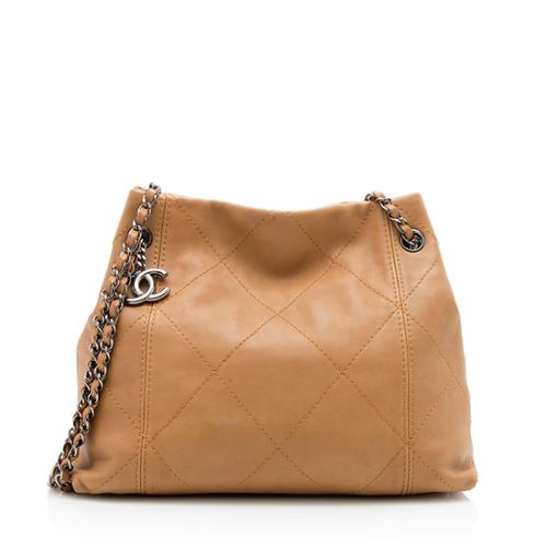 Chanel Quilted Lambskin Soft Touch Shopper Tote