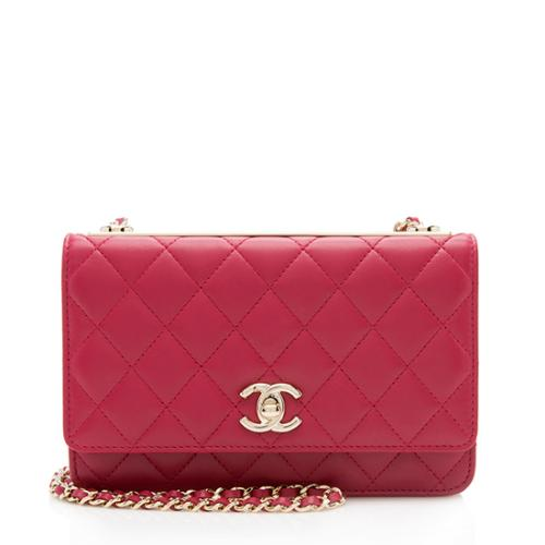 Chanel Quilted Lambskin Trendy Wallet On Chain Bag