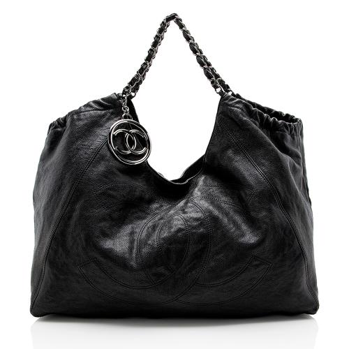 Chanel Quilted Leather CC Charm Hobo
